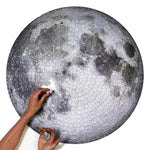 Round Puzzle Moon/ Earth Puzzle 1000 Pieces Difficult For Adult Kids Planets Puzzle Toys  Educational