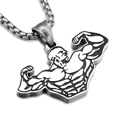 Sports Gym Fitness Pendant Necklaces