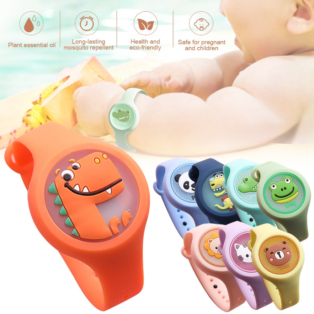 Kids Mosquito Repellent Watch Lightweight Natural Mosquito Repellent Bracelet Plant Essential Oil Mosquito Repellent Device