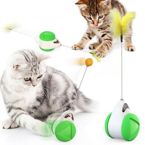 Pet cat Toys  Feather Ball toys animal automatic Tease the cat stick Balancecar Cats play by themselves Pets