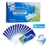 28Pcs/14Pairs Advanced Teeth Whitening Strips Stain Removal for Oral Hygiene Clean Double Elastic Dental Bleaching Strip