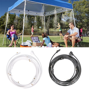 Outdoor Misting Cooling System Kit For Greenhouse Garden Patio Waterring Irrigation Mister Line 6M-18M System Caliber Is 0.4mm