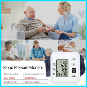 Health Care Arm Blood Pressure Monitor Heart Beat Rate Pulse Meter Tonometer Sphygmomanometers pulsometer