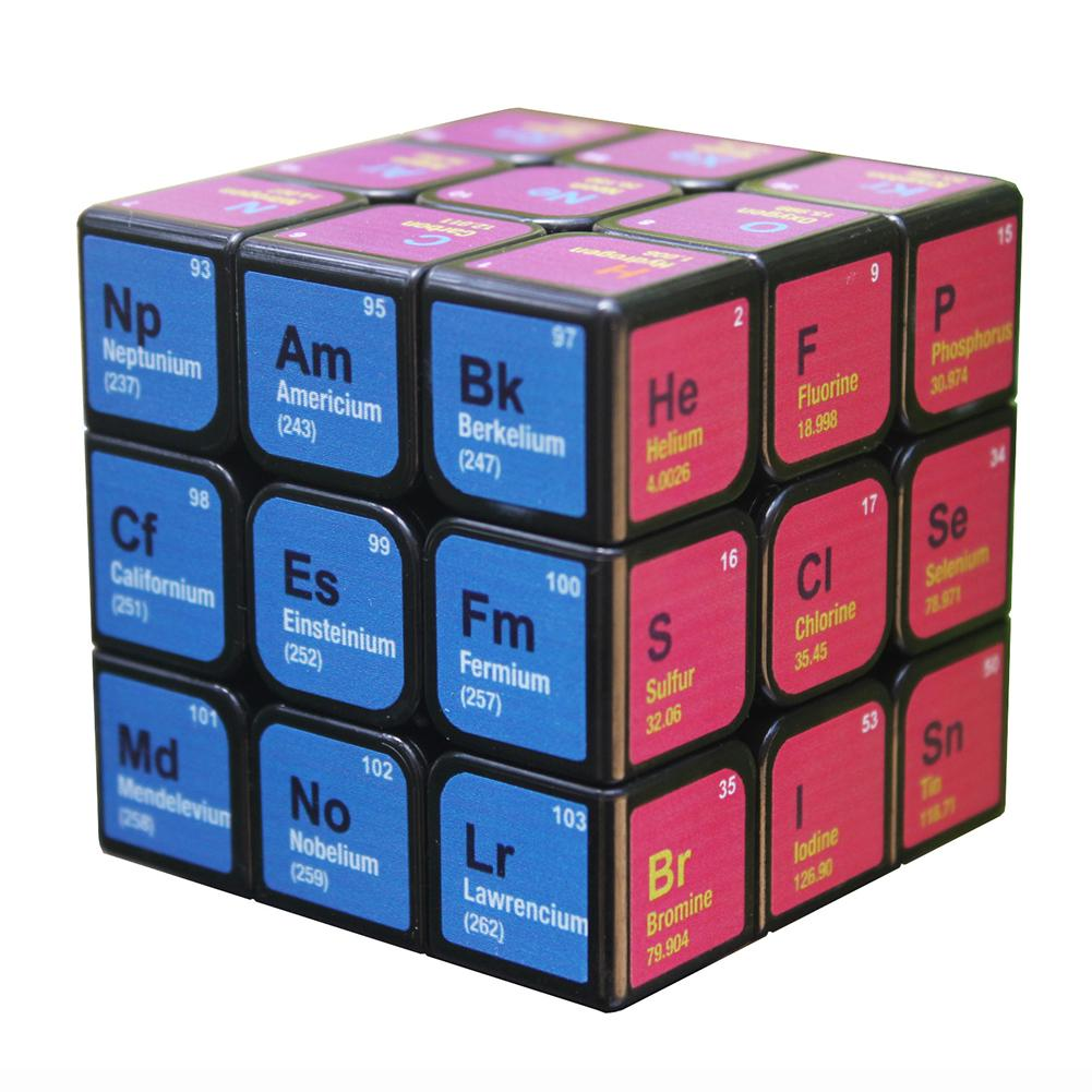 Professional Cube 3x3x3 5.6CM Speed For Magic Cube Chemical Element Periodic Table 3rd-order Cube Learning Formula Education Toy