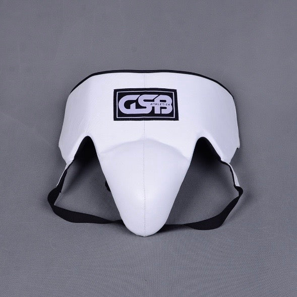 Leather Groin Guard- White