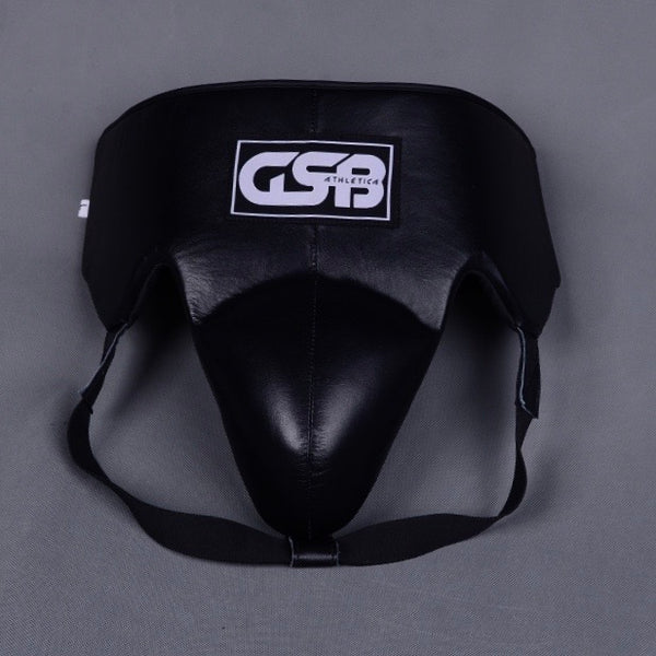 Leather Groin Guard- Black