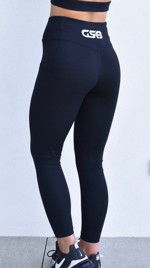 GSB Athletica Ankle Leggings- Black
