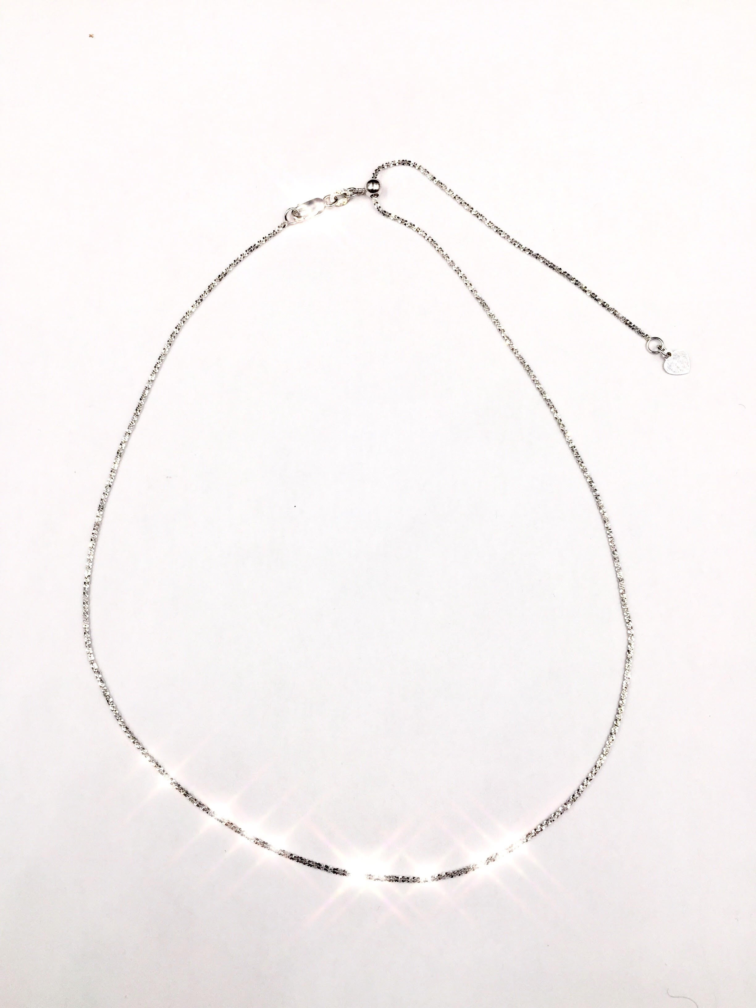 Angel Hair choker- extra sparkle (white)