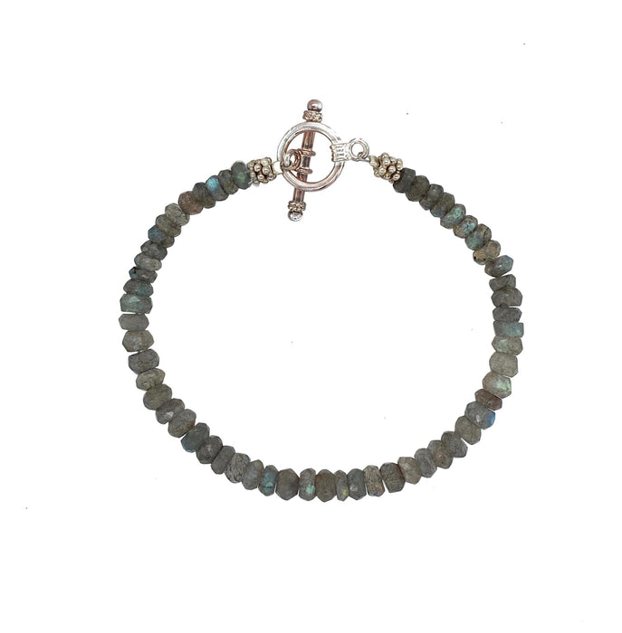 Small Labradorite Bracelet in Sterling Silver