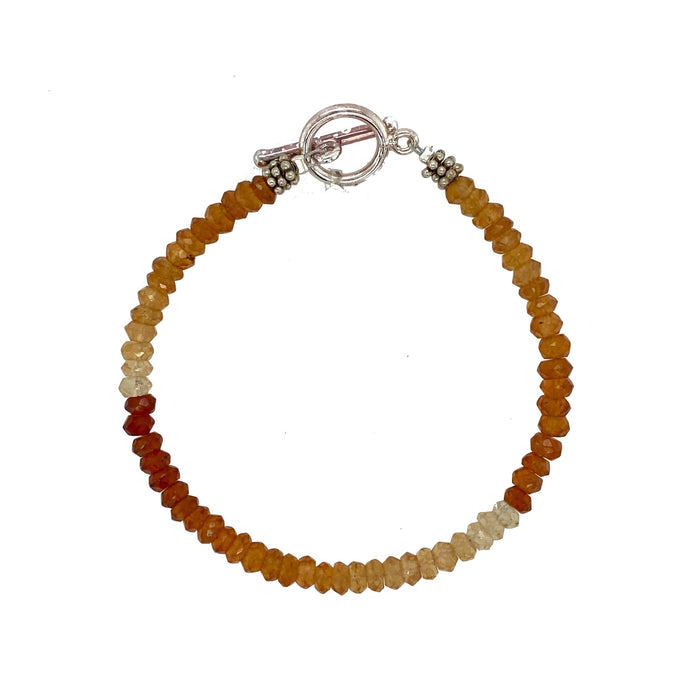 Hessonite Bracelet in Sterling Silver