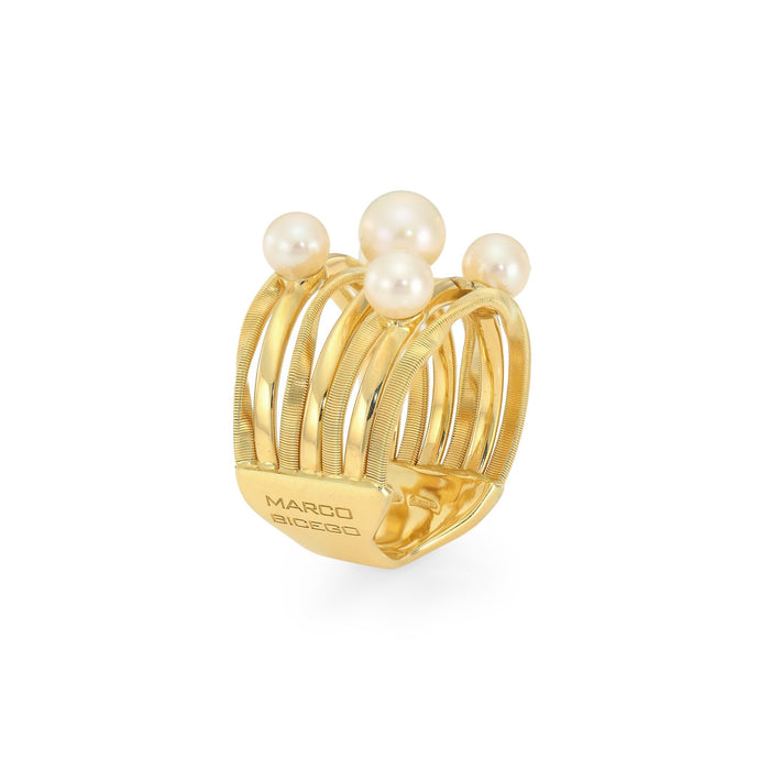 Marrakech Onde 5 Strand Pearl Ring