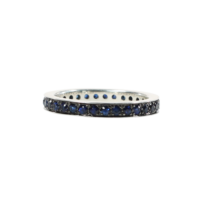 Classic Gemstone Band in Silver