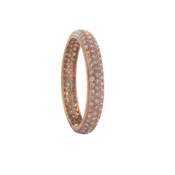 The Tire Band with Pink Diamond in Rose Gold