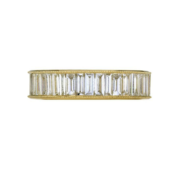 The Heritage Baguette Diamond Band in Yellow Gold