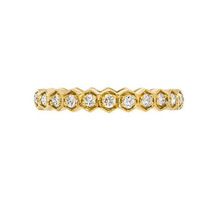 The Regency Diamond Band in Yellow Gold