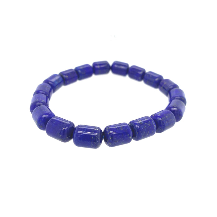 Lapis Medium Barrel Bracelet