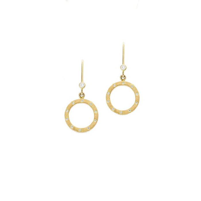 The Dunes Diamond Drop Earrings in Yellow Gold