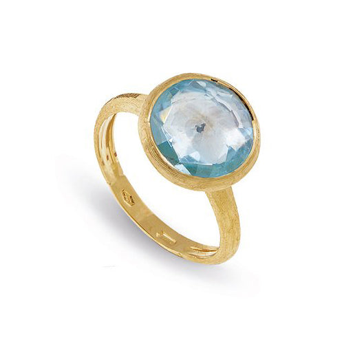Jaipur London Blue Topaz Ring in Yellow Gold