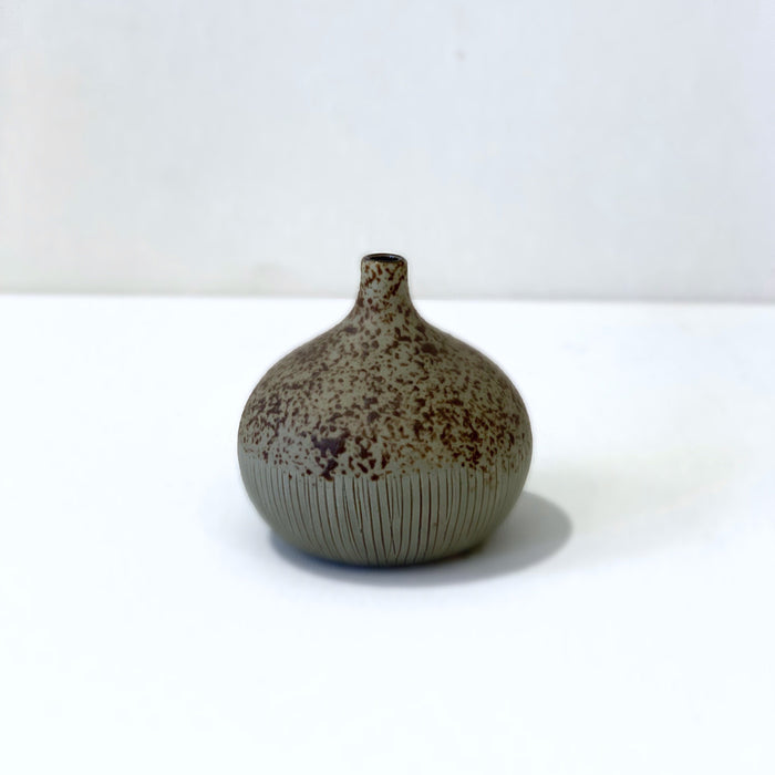 Congo Brown and Green Matte Small Vase