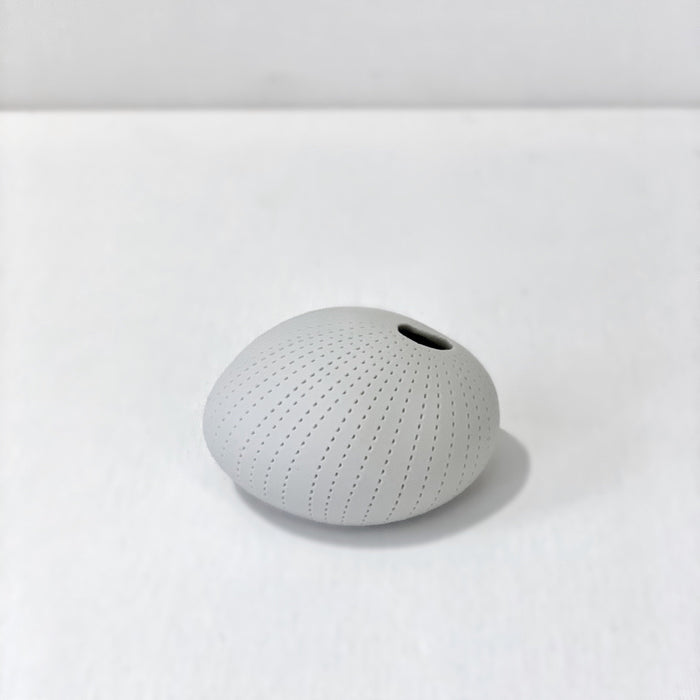 Pebble Dotted Stripe Small Matte Vase