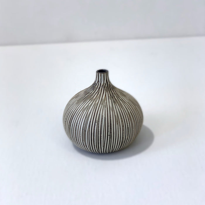 Congo Brown Stripe Small Round Vase