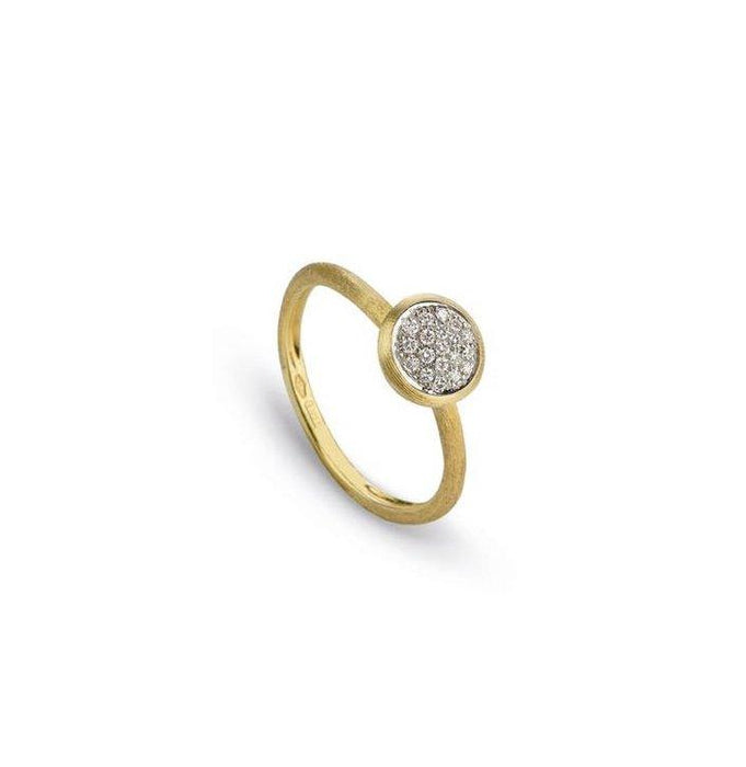 Jaipur Stackable Ring with Diamond Pave in Yellow Gold