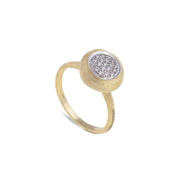 Jaipur Stackable Ring with Diamond in Yellow Gold
