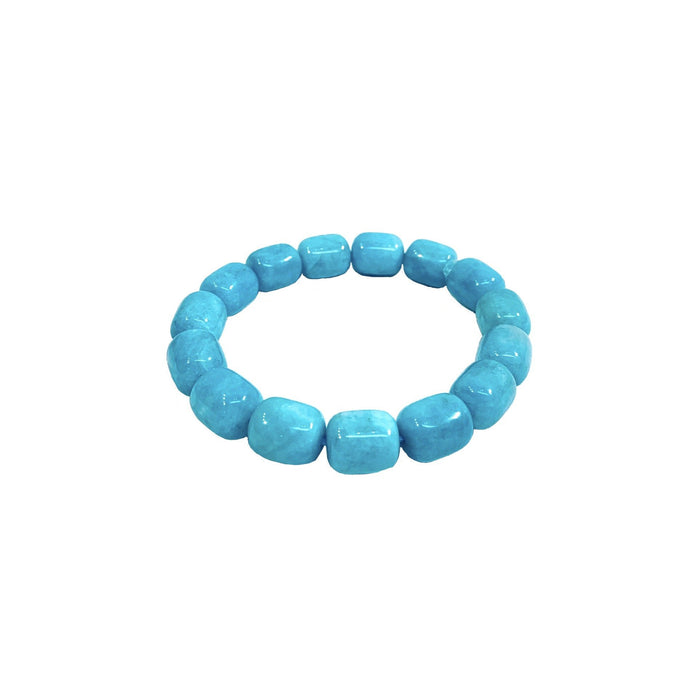 Amazonite Medium Barrel Bracelet