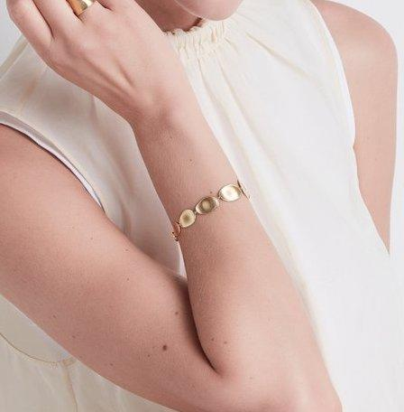 Lunaria Graduated Medium Bracelet in Yellow Gold
