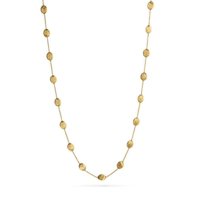 Siviglia Large Bead Long Necklace in Yellow Gold