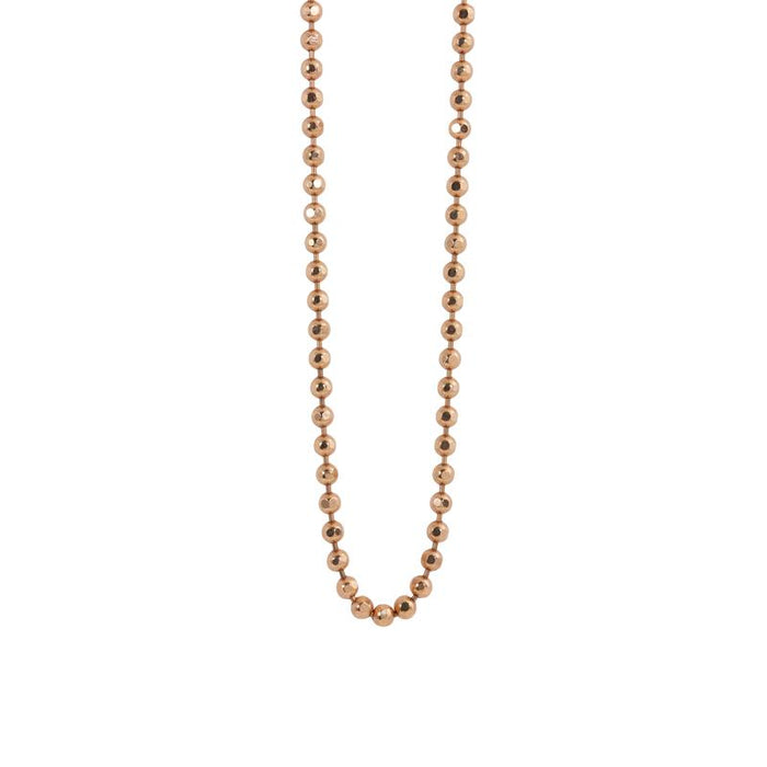 Large Diamond Cut Ball Chain in Rose Gold