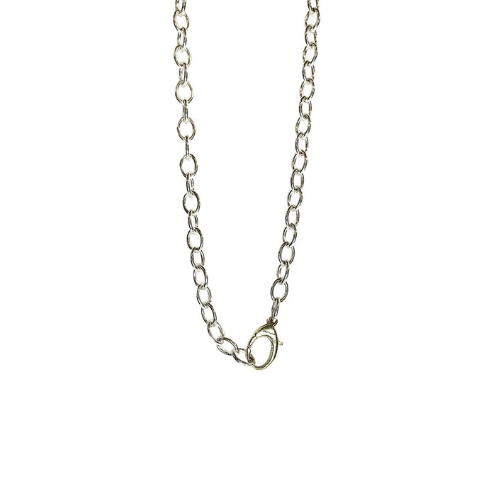 Heavy Cable Sterling Silver Chain with Yellow Gold Clasp