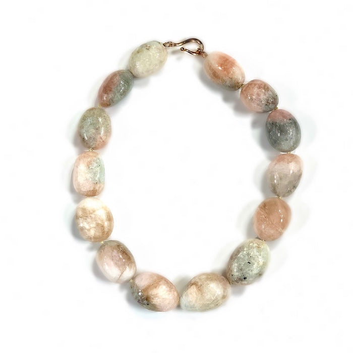 Polished Kunzite Bead Necklace