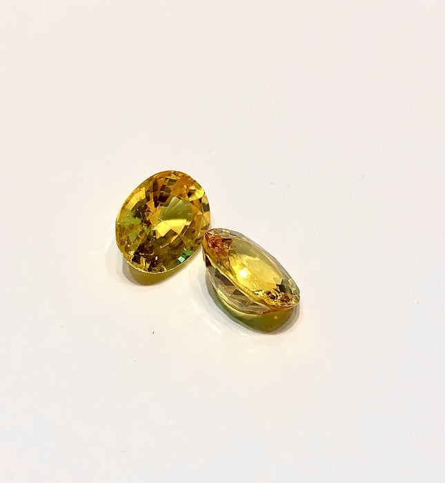 Oval Cut Yellow Sapphire (Available as Pair)
