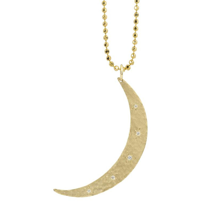 Mobi Diamond Moon Pendant