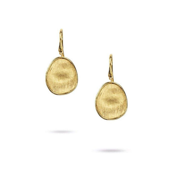Lunaria Petite French Wire Drop Earrings in Yellow Gold