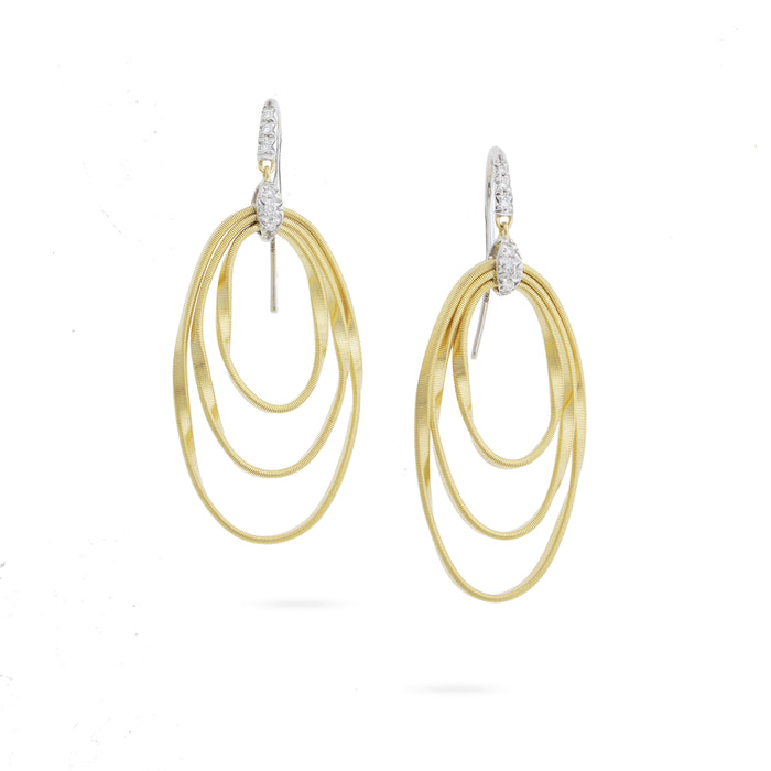 Marrakech Onde Diamond Hook Earrings