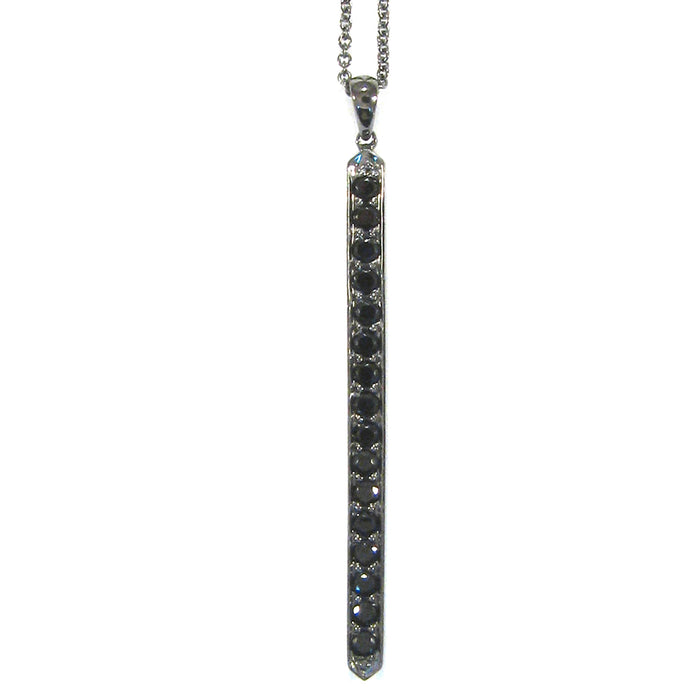 Gemstone Bar Pendant in Sterling Silver