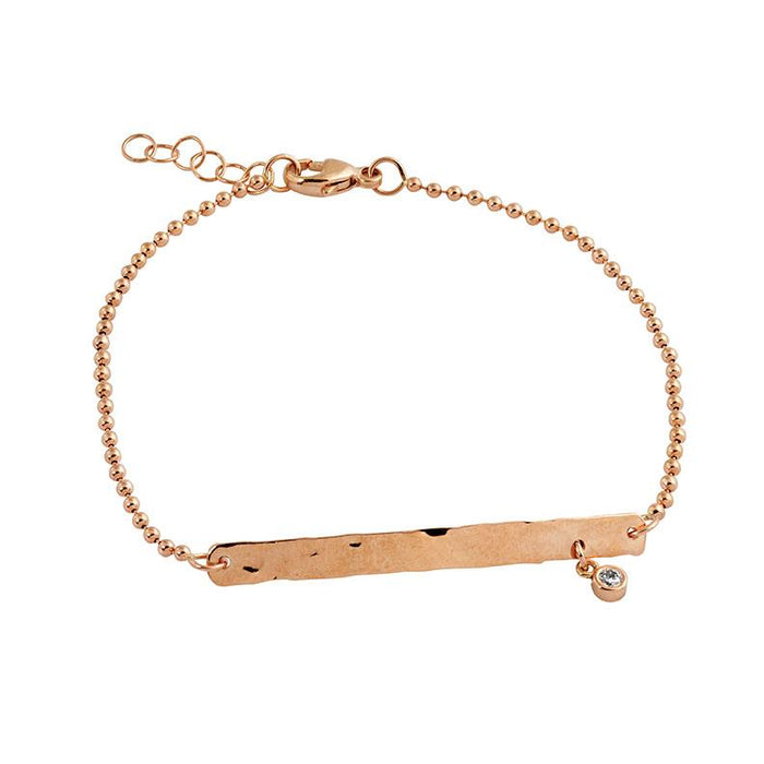Pari Dangle Diamond Bracelet in Rose Gold
