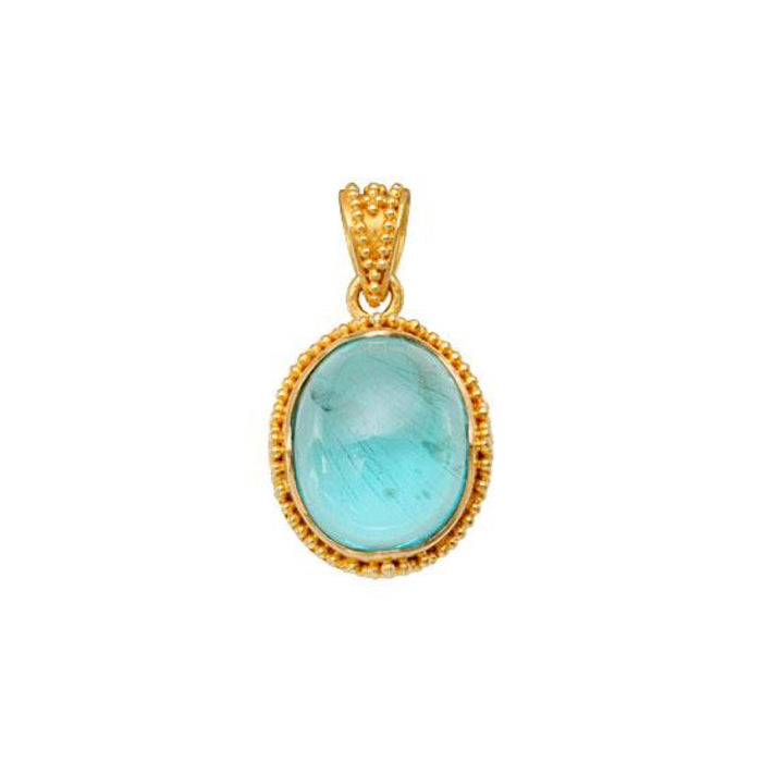Apatite Pendant in Yellow Gold