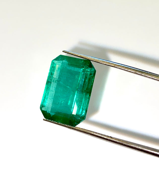 Large Emerald Cut Emerald (Available as Pair)