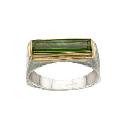 Slim Rectangle Tourmaline Ring