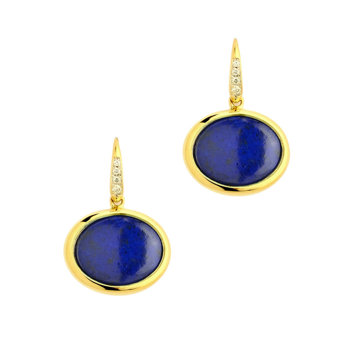 Lapis Lazuli Cobblestone Earrings