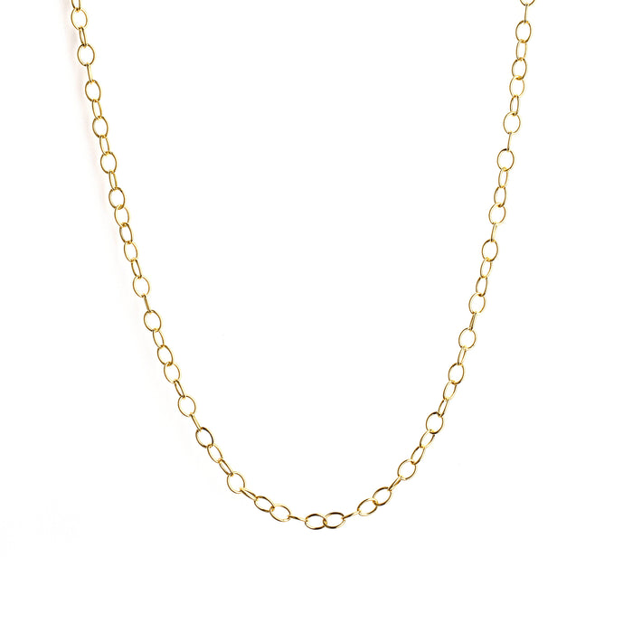 Medium Oval Link Chain in Yellow Gold