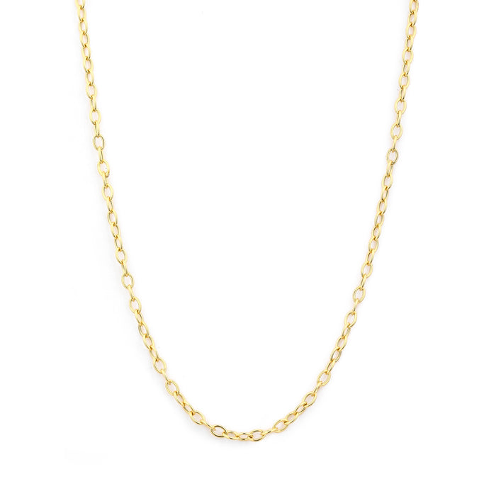 Thin Link Chain in Yellow Gold