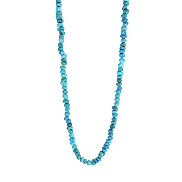 Turquoise Nugget Necklace in Sterling Silver