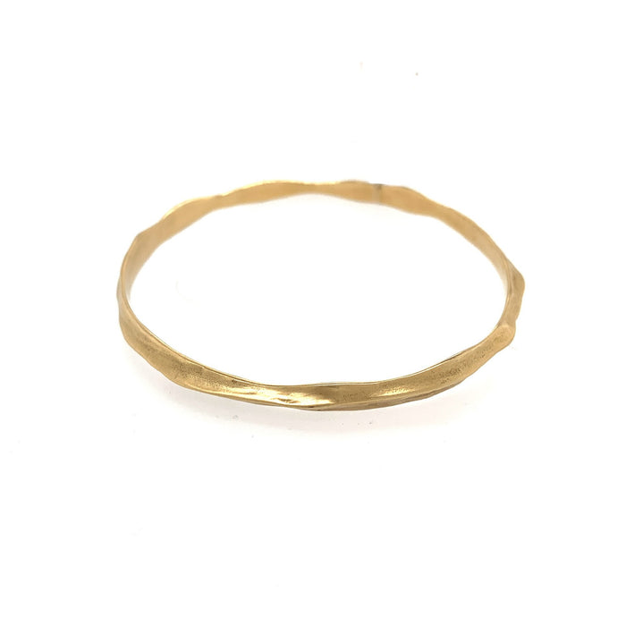 Matte Bangle in Yellow Gold