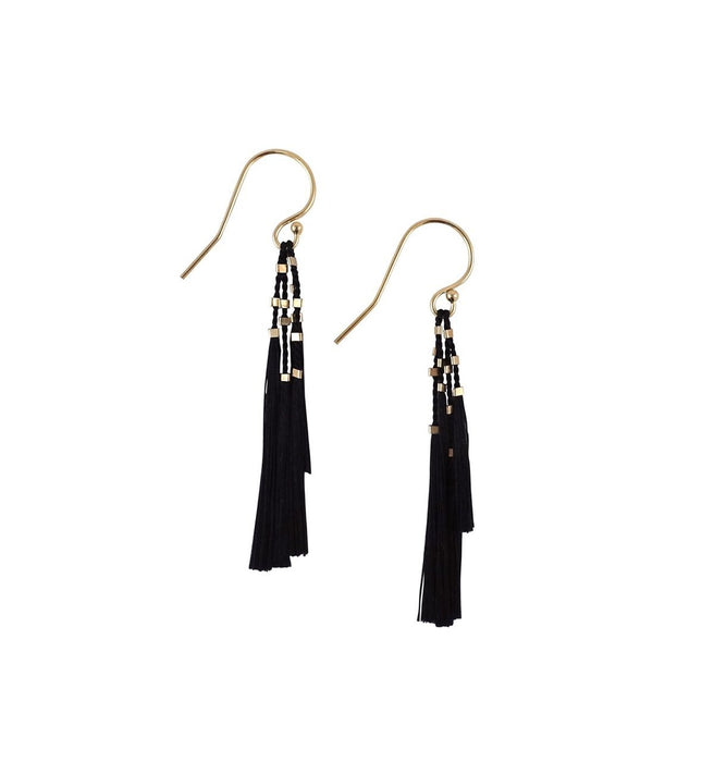 KiKi Earrings in Black and Gold