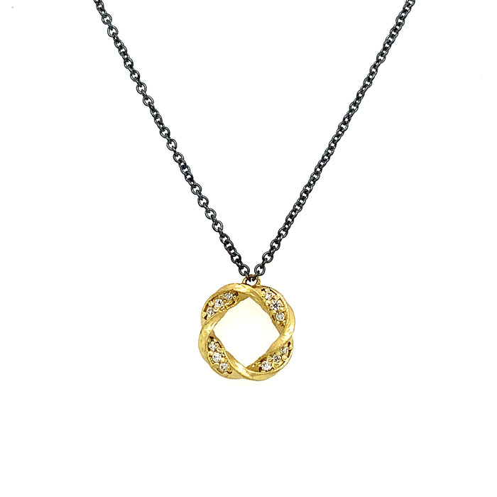 Eclipse Small Pendant in Yellow Gold