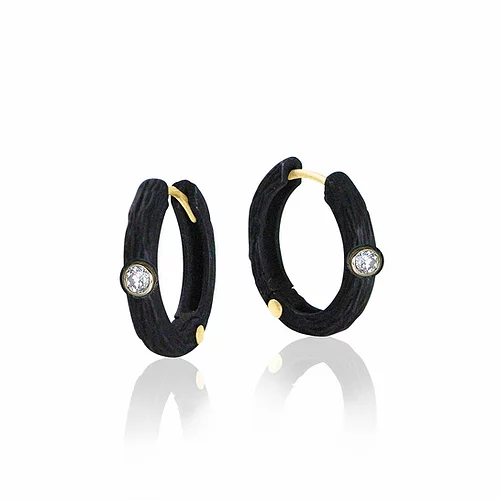 Pebble Medium Hinged Hoops